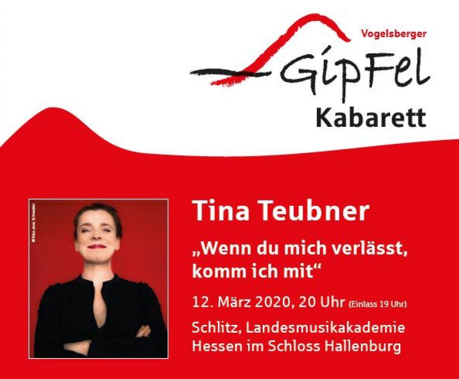 ABGESAGT: Tina Teubner am 12.3.2020 findet nicht statt