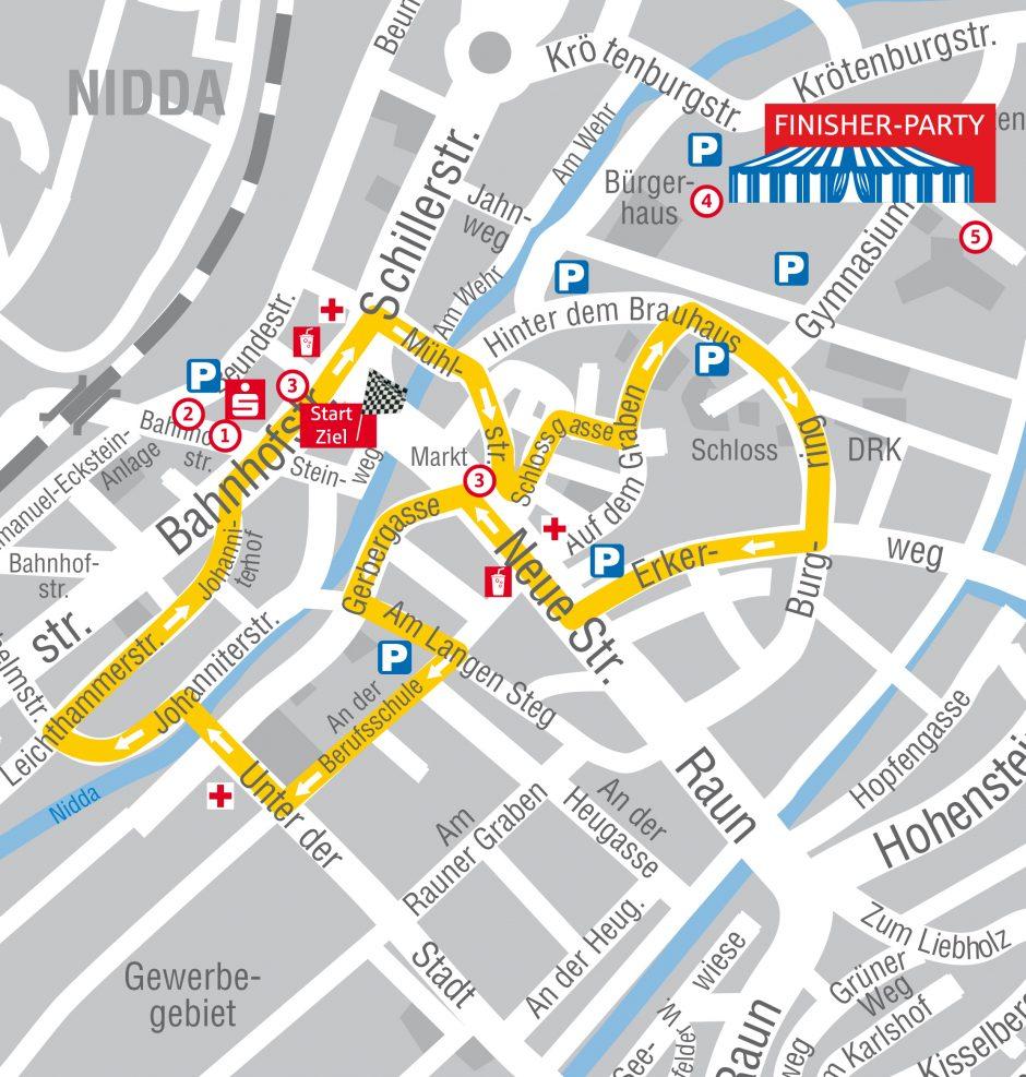 Autofreie Innenstadt: Mittwochabend beim Oberhessen Challenge Lauf in Nidda