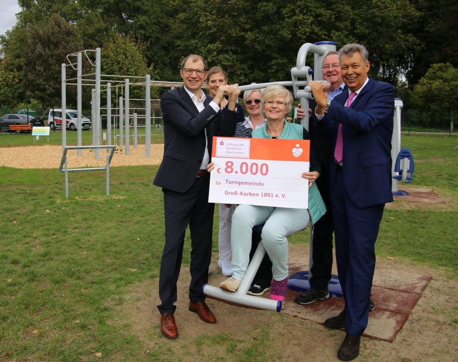 Sparkassen-Stiftung fördert den Familiensportpark der Turngemeinde Groß-Karben