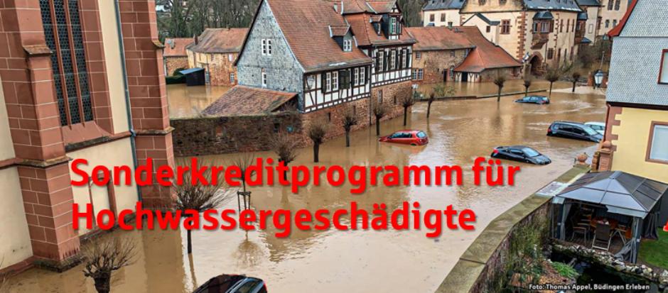 Sparkasse Oberhessen bietet Hochwasser-geschädigten schnelle und unkomplizierte Soforthilfen an